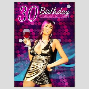 30th Birthday Party Invitation 5x7 Invitations