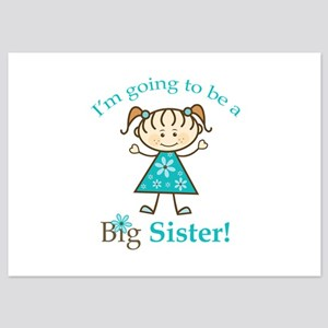 Big Sister to be 5x7 Flat Cards