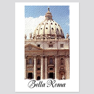 Saint Peter's Basilica in Rome Italy 5x7 Flat Card
