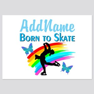 BORN TO SKATE 5x7 Flat Cards