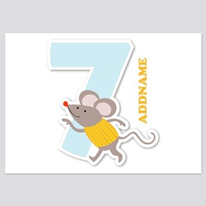 7th Birthday Personalized Name 5x7 Flat Cards