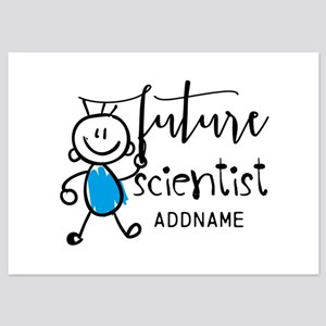 Future Scientist Personalized 5x7 Flat Cards