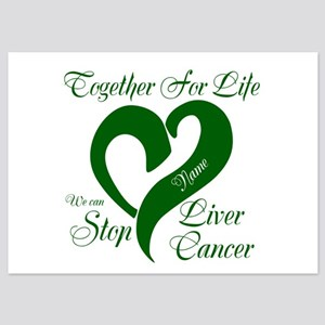 Personalize Stop Liver Cancer 5x7 Flat Cards