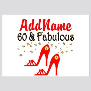 60 & FABULOUS 5x7 Flat Cards
