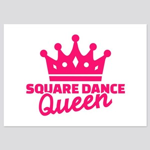 Square dance queen 5x7 Flat Cards