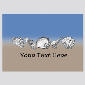 Beach Seashell Theme Art Personalizable Invitation