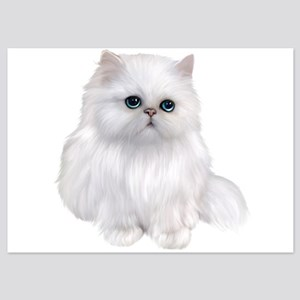 Cute white Persian Cat 5x7 Flat Cards