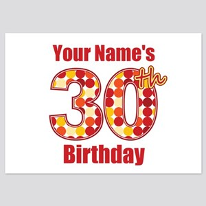Happy 30th Birthday - Personalized! Flat Cards