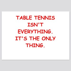 table tennis 5x7 Flat Cards
