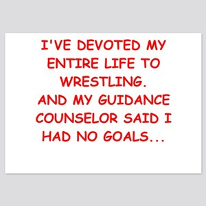 wrestling 5x7 Flat Cards