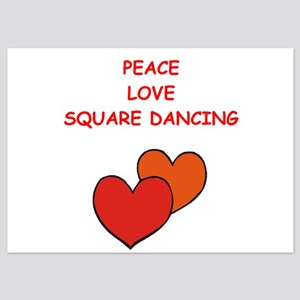 square dancing 5x7 Flat Cards