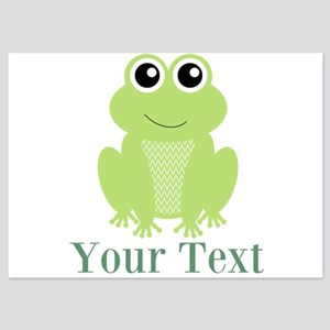 Personalizable Green Frog Invitations