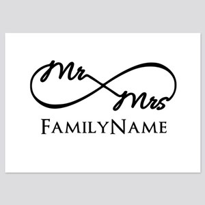 Custom Infinity Mr. and Mrs. 5x7 Flat Cards