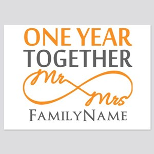 Personalized 1st Year Wedding Anniversary Invitations And