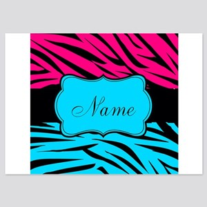 Personalizable Hot Pink and Teal Invitations