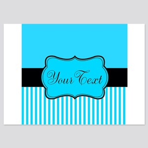 Personalizable Teal White Black Invitations