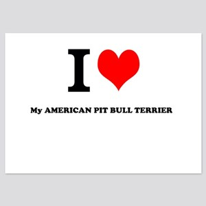 I Love My AMERICAN PIT BULL TERRIER Invitations