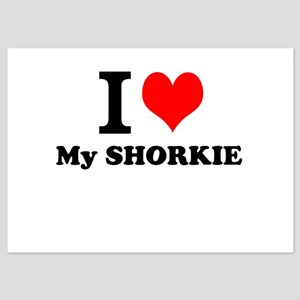 I Love My SHORKIE Invitations