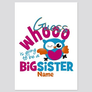 Personalized Big Sister - Owl Invitations
