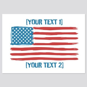 [Your Text] 'Handmade' US Flag 5x7 Flat Cards