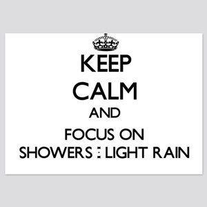 Keep Calm and focus on Showers - Light Invitations