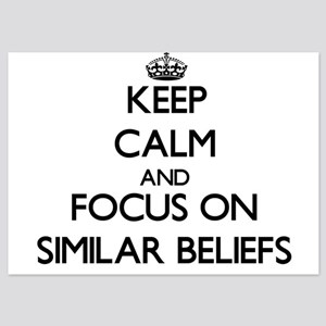 Keep Calm and focus on Similar Beliefs Invitations