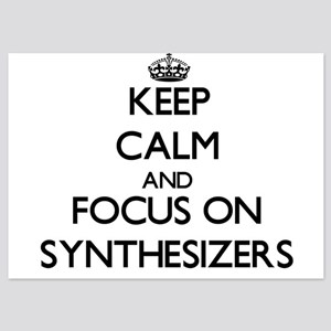 Keep Calm and focus on Synthesizers Invitations