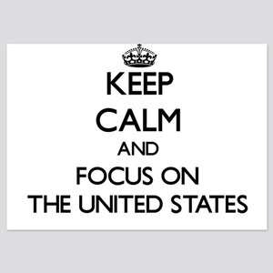 Keep Calm by focusing on The United St Invitations
