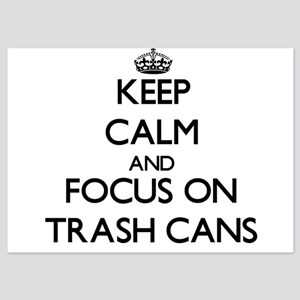 Keep Calm by focusing on Trash Cans Invitations