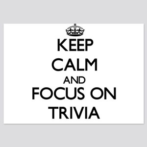 Keep Calm by focusing on Trivia Invitations