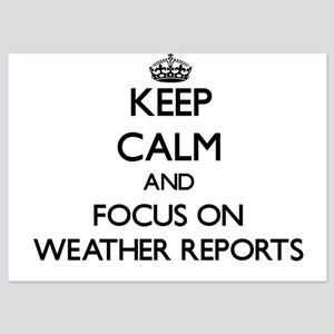 Keep Calm by focusing on Weather Repor Invitations