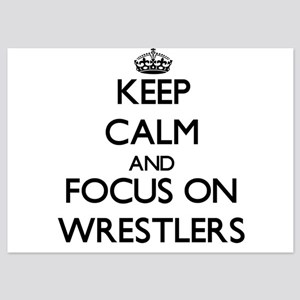Keep Calm by focusing on Wrestlers Invitations