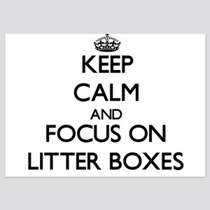 Keep Calm by focusing on Litter Boxes Invitations