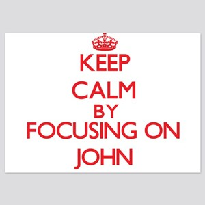 Keep Calm by focusing on John Invitations