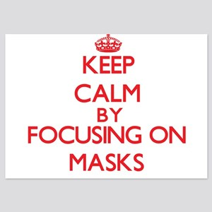 Keep Calm by focusing on Masks Invitations