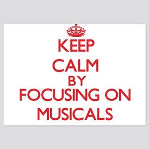 Keep Calm by focusing on Musicals Invitations