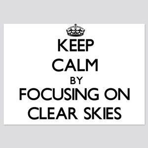Keep Calm by focusing on Clear Skies Invitations