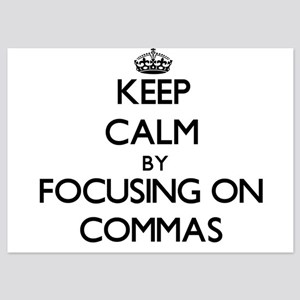 Keep Calm by focusing on Commas Invitations
