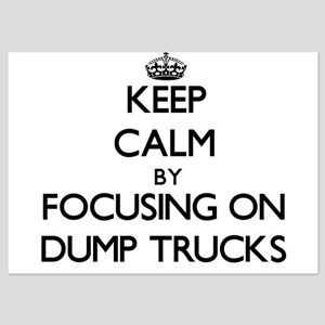 Keep Calm by focusing on Dump Trucks Invitations