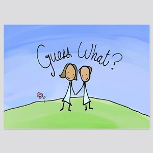Guess What Cute Couple 5x7 Flat Cards Invitations