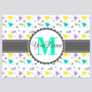 Monogram Personalized Name 5x7 Flat Cards