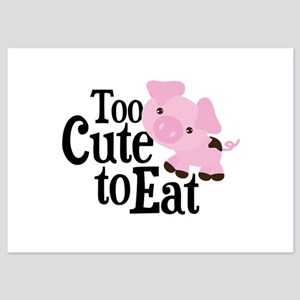 Vegan Pig 5x7 Flat Cards
