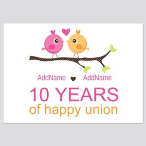 10th Anniversary Personalized 5x7 Flat Cards