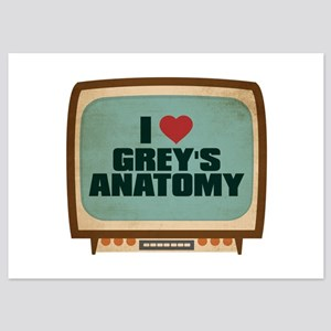 Retro I Heart Grey's Anatomy 5x7 Flat Cards