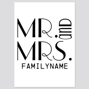 Personalized Mr. Mrs. 5x7 Flat Cards