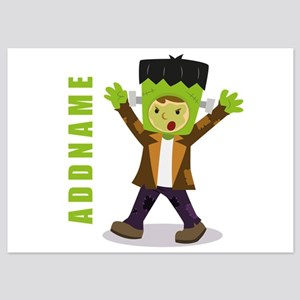 Halloween Green Goblin Personalized 5x7 Flat Cards
