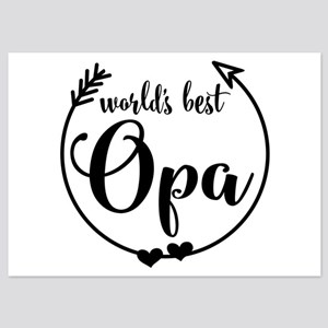 World's Best Opa 5x7 Flat Cards