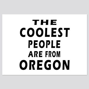 The Coolest People Are From Oregon 5x7 Flat Cards