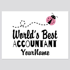 World's Best Accountant 5x7 Flat Cards