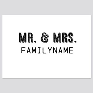 Mr. & Mrs. Personalized 5x7 Flat Cards